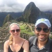 Roshan and Jennifer Prabhu at Machu Pichu