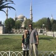 Roshan Prabhu, MD and his wife Jennifer traveling