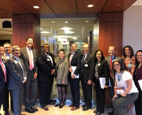 Dr. Chris Corso (SER0) hosted Senator Burr's staff on behalf of ASTRO at radiation therapy center in Charlotte, NC
