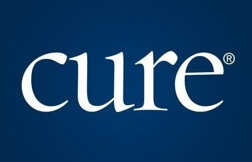 CURE logo, a print magazine and web resource, provides cancer updates, research, and education.