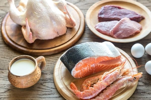 lean protein like chicken and fish
