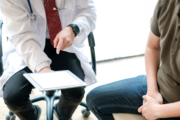 patient talking to doctor about prostate cancer
