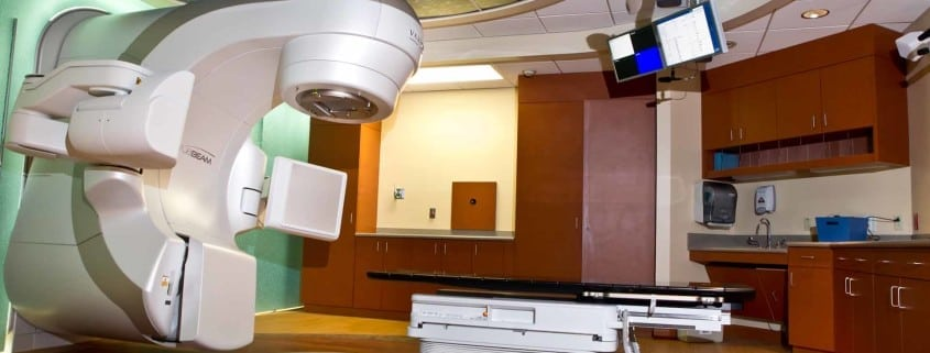 Radiation therapy for cancer treatment.
